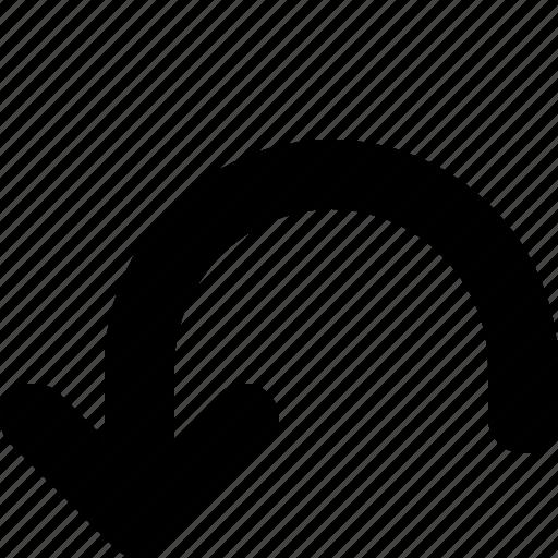 arrow, back, left, redo, return icon