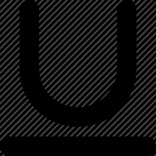 edit, text, underline icon
