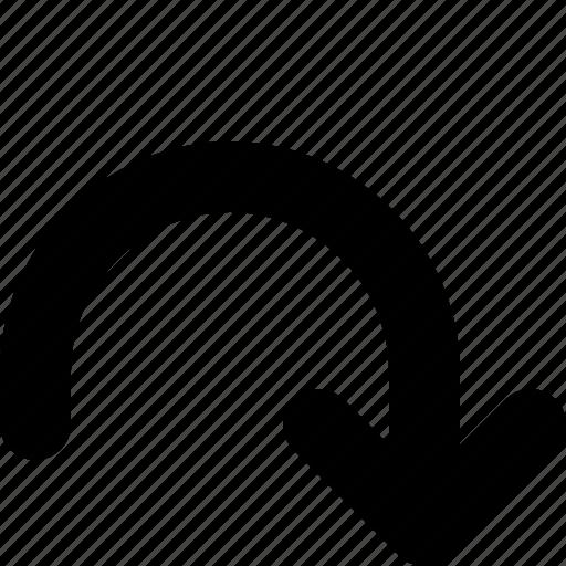 arrow, return, right, undo icon
