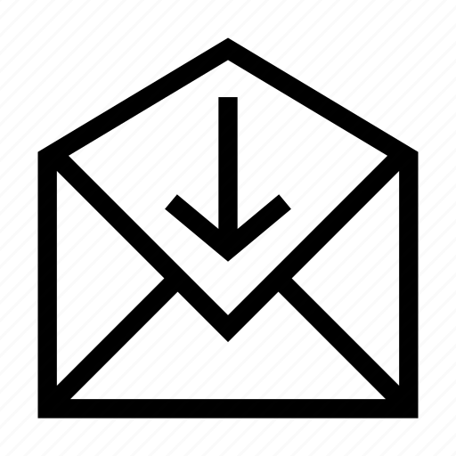 correspondence, envelope, inbox, incoming, letter, mail, paper, received icon