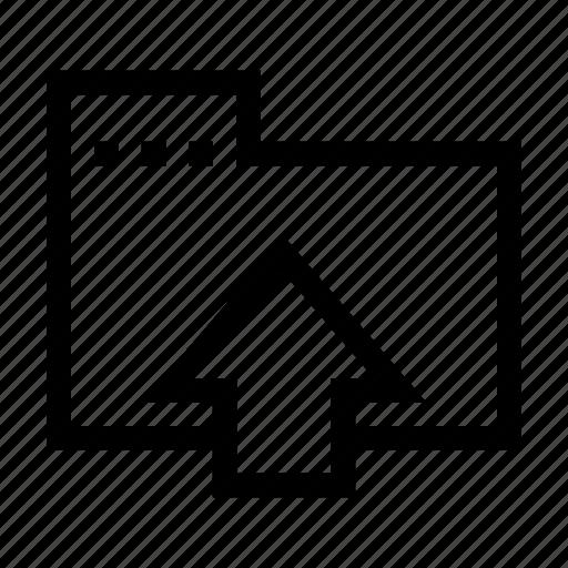 arrow, data, folder, transfer, up, upload icon