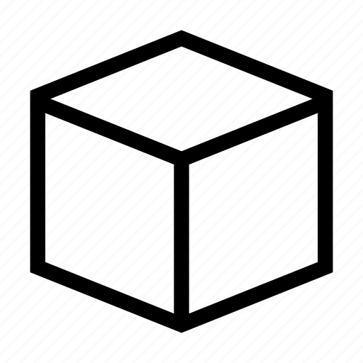 cube, geometry, isometric, perspective, shape, square icon