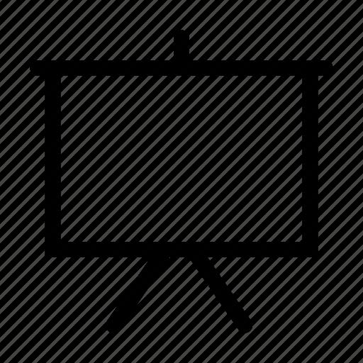 Board, cinema, projection, projector, screen, whiteboard icon Whiteboard Icon Image