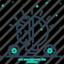 brooding, consideration, idea, thinking icon
