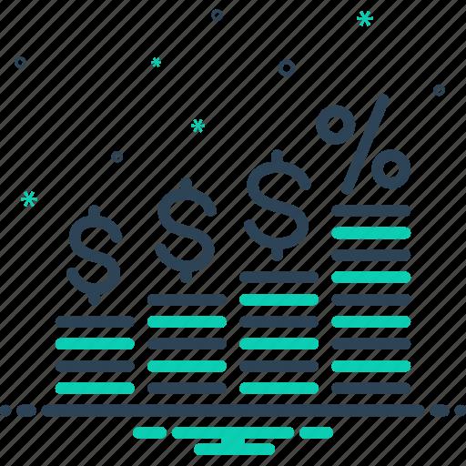finance, finance interest, improvement, interest, investment icon