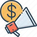 advertisement, advertising, blurb, business, business advertising icon