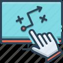 hand, planning, strategic, strategic planning, strategies icon