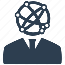 business, businessman, communication, connect, connection, global, network icon