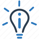 brainstorming, bulb, business idea, creativity, light, planning icon