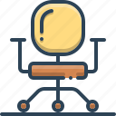 business, business chair, chair, comfortable, furniture icon
