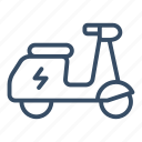 battery, city transport, electric, electric motorcycle, motorcycle, scooter, vespa icon