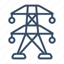 electric pole, energetics, high voltage, pole, power lines, power pole icon