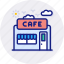 cafe, house, shop, coffee, restaurant, building, deli