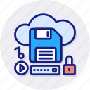 cloud, storage, data, network, database, sync icon