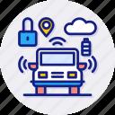 self, driving, car, navigation, machine, locked, vehicle icon