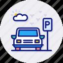parking, car, vehicle, auto, lot, sign, transport