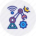 robotics, arm, factory, machine, robot, technology, cnc icon
