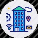 smart, city, buildings, business, offices, center