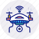 uav, aviation, drone, quadcopter, aerial, unmanned, vehicle icon