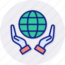 earth, eco, ecology, environment, protection, save, green icon