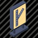 crossroad, crossway, interchange, interjection, y intersection icon