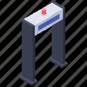 body scanner, detector gate, door sensor, security door, smart entrance icon