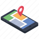 android app, location app, mobile app, mobile gps, tracking app icon