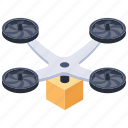 flying drone, quadcopter, quadrocopter, quadrotor, quadrotor helicopter icon