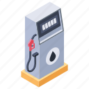 filling station, fuel dispenser, gallipot, gas station pump, petrol station icon