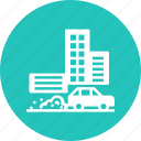 air, building, city, pollution, savefuel, smart, waste icon