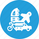 multimodel, bus, vehicle, integration, plane, transpotation, car