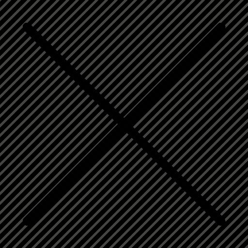 cancel, close, cross, delete, remove, stop, x icon