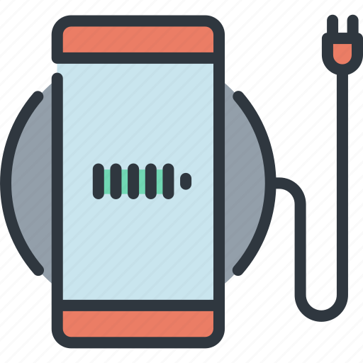 battery, charging, device, gadget, smart, technology, wireless icon