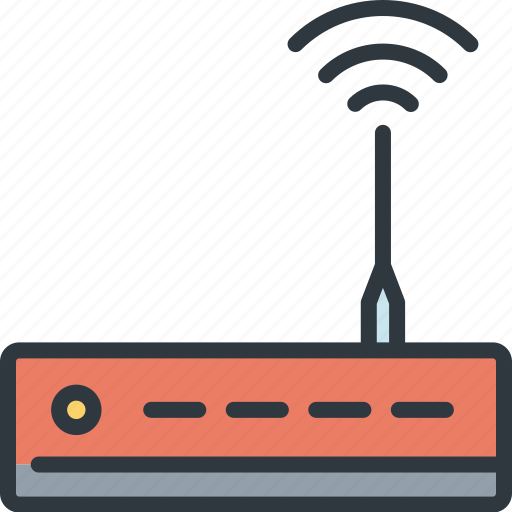 data, device, router, signal, smart, technology, wireless icon