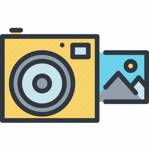 camera, device, gadget, instant, photography, smart, technology icon