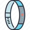 device, exercise, gadget, heart rate, smart, technology, watch icon