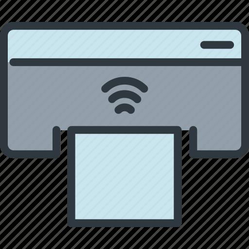 business, computer, gadget, printer, smart, technology, wireless icon