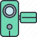 camcorder, camera, device, gadget, handheld, smart, technology icon