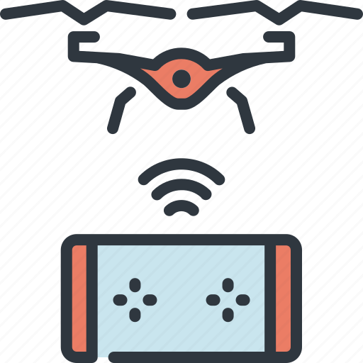 controller, device, drone, gadget, smart, technology, wireless icon