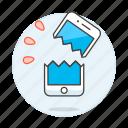 2, broken, mobile, phone, repair, smartphone icon