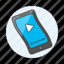 features, flexible, foldable, mobile, phone, screen, smartfhone icon
