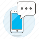 phone, texting, text, smartphone, chat, mobile, message icon