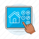 home, hand, smart, iot, controler, automation, tablet, control, switch, domotics, devices, panel