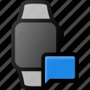 smartwatch, message, smart, watch