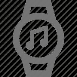 audio, music, smart watch, watch icon