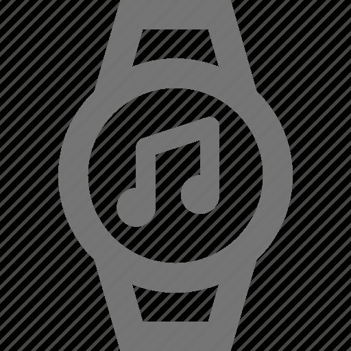 audio, device, iwatch, music, smart, time, watch, wrist icon