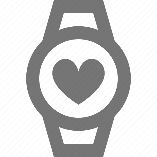 circle, device, heart, iwatch, smart, time, watch, wrist icon