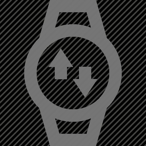 arrows, smart watch, sync, watch icon