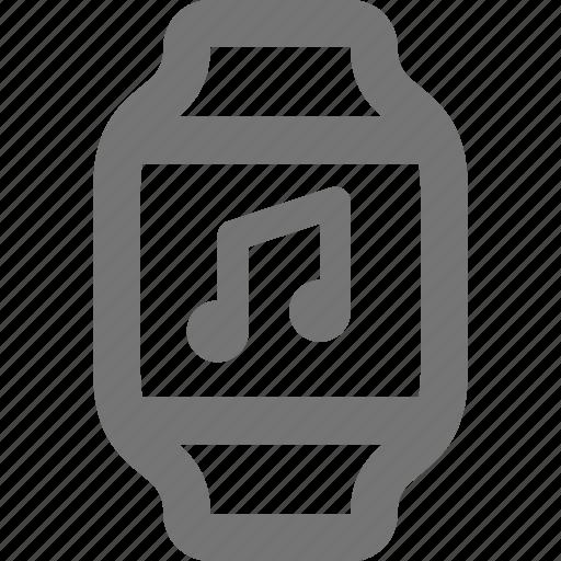 audio, smart watch, watch icon