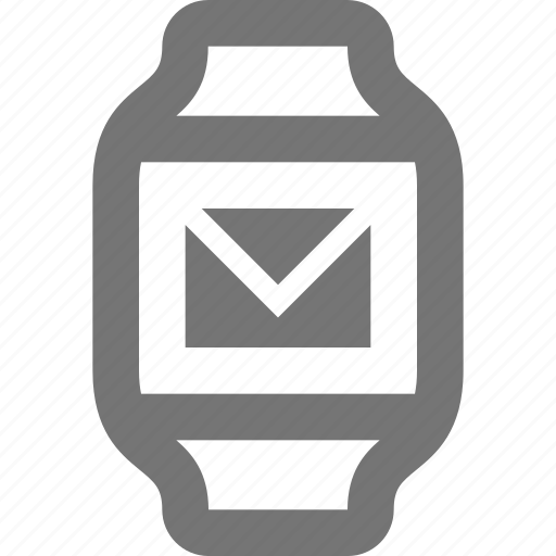 email, mail, message, smart watch, watch icon